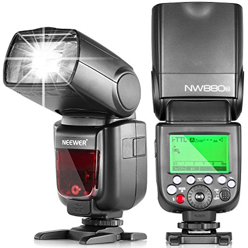 Neewer® NW880N 2.4G Wireless HSS E-TTL II LCD Schermo Master/Slave Flash Speedlite per Fotocamere Nikon DSLR come D7200 D7100 D7000 D5200 D5100 D5000 D3000 D3100 D810 D610 D300 D300S D200 D90