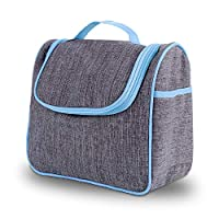 Toiletry Bag Avoalre Large Wash Bag Hanging Cosmetic Bag Travel Organizer for Men and Women Toiletry Kit with Sturdy Hook (Blue)