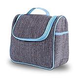 Avoalre Beauty Case da Viaggio Donna Uomo Unisex Beauty Case Borsa Borsetta da Viaggio per Lavaggio Organizzatore Borsa Cosmetica Grigio-Azzurro