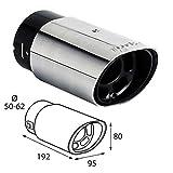 akhan ER60023 Endrohr Auspuffblende zum anschrauben Sport Sound 192x95x80mm Einlassdurchmesser 50-62mm