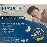 Epaplus Forte + Retard, Suplemento para Dormir con Melatonina y Triptófano, Larga Duración,