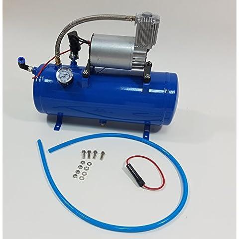 12V 6litri compressore d' aria pompa serbatoio kit per auto e camion, Corno 150PSI con Built-in auto interruttore di pressione - Rv Serbatoio