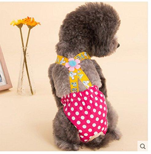 Bequemer Baumwoll weiblich Hund Bitch Paarungszeit Hitze Hose Gurt Windeln atmungsaktiv Windel Hygiene S M L XL, geeignet für mittlere Kleine Hunde