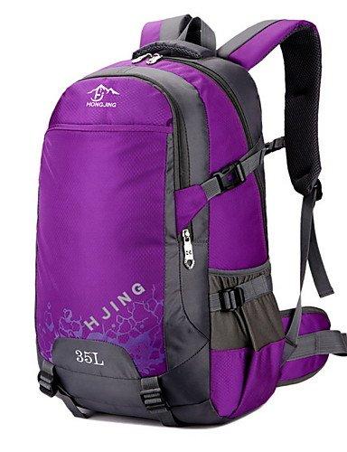 HWB/ 35L L Tourenrucksäcke/Rucksack Camping & Wandern / Klettern Draußen Multifunktions Grün / Schwarz / Blau / Purpur Nylon No Purple
