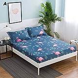 PENVEAT Bettlaken mit Kissenbezug Geometrisch bedrucktes Spannbetttuch mit elastischen Matratzenbezügen aus Bettwäsche aus Polyester Queen Size, Typ 14.180 x 200 cm x 25 cm
