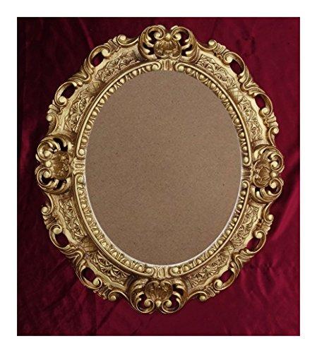 Lnxp BILDERRAHMEN Antik Barock in der Farbe: Gold 45x38 cm Oval REPRO Bilder für 28x22 cm Oder 22x28 cm BAROCKRAHMEN Bilder DEKO