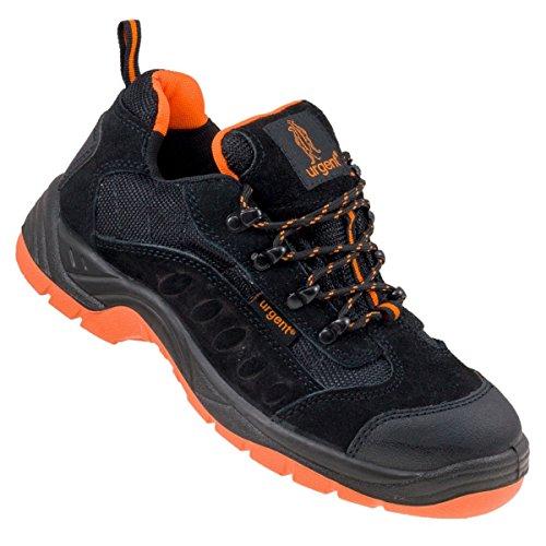 Arbeitsschuhe Sicherheitsschuhe URGENT 210 S1, Schwarz / Orange, 43 EU