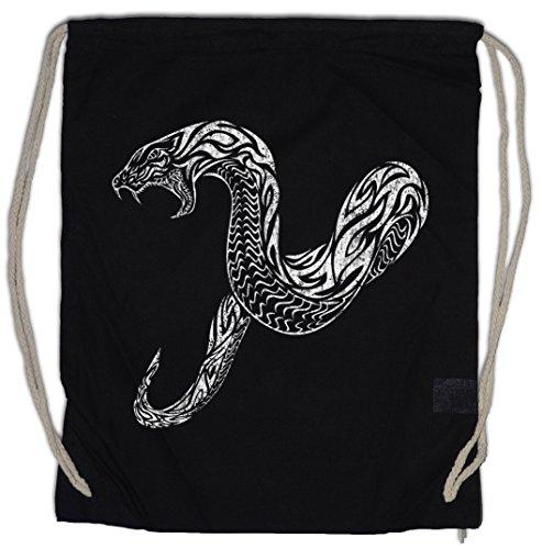 (Urban Backwoods TRIBAL Snake Turnbeutel Sporttasche Schlange Tattoo Oldschool Flash Artist Studio)