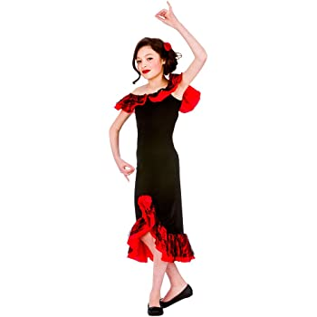 f4edd6a7991 (XL) Girls Spanish Senorita Costume for Spain Mexico Fancy Dress Kids  Childs Extra Large