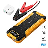iClever 800A Peak 20000mAh Car Jump Starter (up to 8L gas or 6.5L diesel engine)   12V Auto Battery Booster, QC 3.0 Power Bank with 30W USB-C Charge IN & OUT, LED Flashlight, 12V/10A DC Output