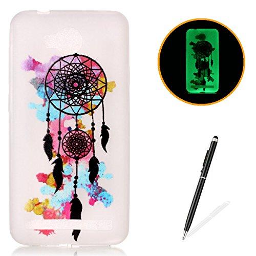huawei-y3-ii-gel-de-silicona-funda-con-gratis-lapiz-tactil-kasehom-efecto-luminoso-noctilucent-verde