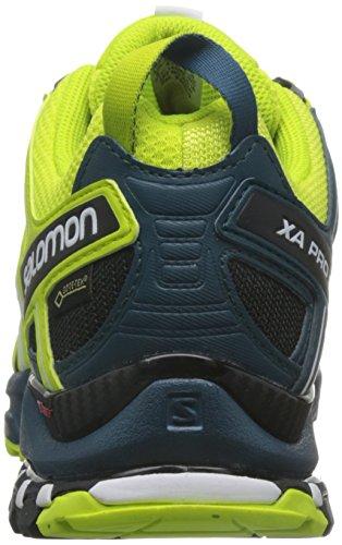 Salomon Homme XA Pro 3D, Black/Magnet/Quiet Shade, Synthétique/Textile, Chaussures de Course à Pied et Trail Running, Taille 44.6 Mehrfarbig (Lime Punch/bk/reflecting)