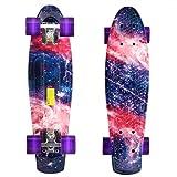 aceshin Monopatín Skateboard Completo Longboard Estilo Retro para Adultos y Niños