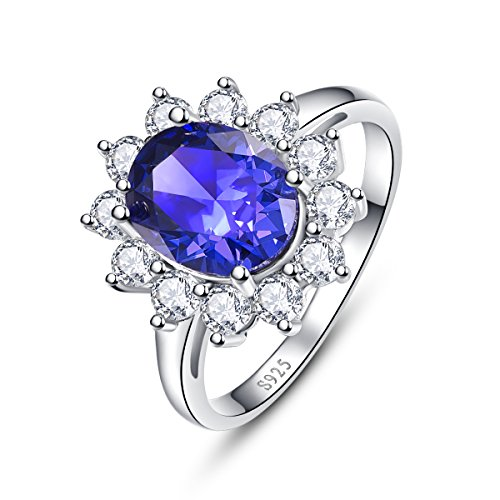 Bonlavie  -  Sterling-Silber 925  Sterling-Silber Ovalschliff   G-H Tanzanite  (Tansanit Ring Sterling Silber)