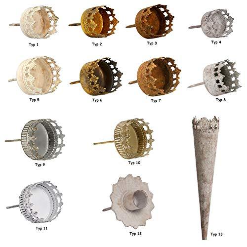 NETPROSHOP Kerzenhalter und Teelichthalter Antik für Gestecke und Kränze Auswahl, Auswahl:Typ 11