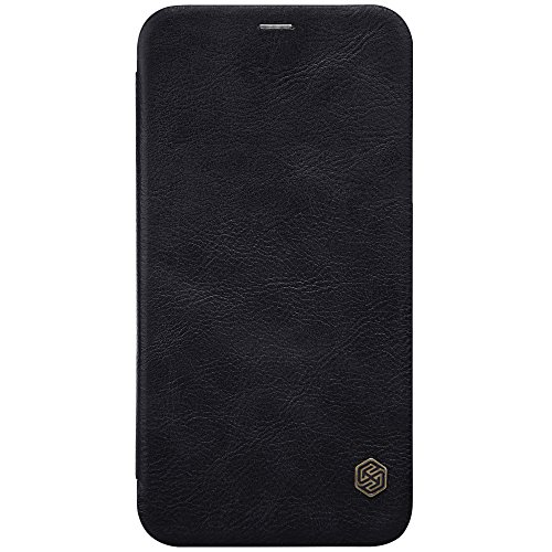 Meimeiwu Hohe Qualität Flip Up Leder Brieftasche Tasche Hülle - Handytasche Schale mit Karten-Slot Entwurf für iPhone X - Braun Schwarz