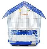 BPS Gabbia per Uccelli in Metallo con Alimentatore Bere Altalena Springer Secchio Colore inviato a Caso 46 x 26 x 33 cm BPS-1161