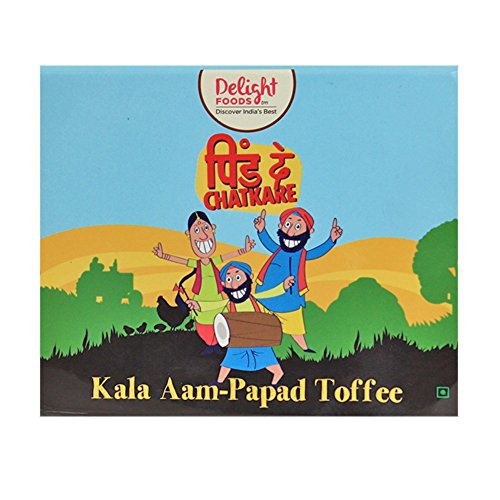 Delight Foods Amritsari Kala Aam Papad Toffee – Sundried – 150g