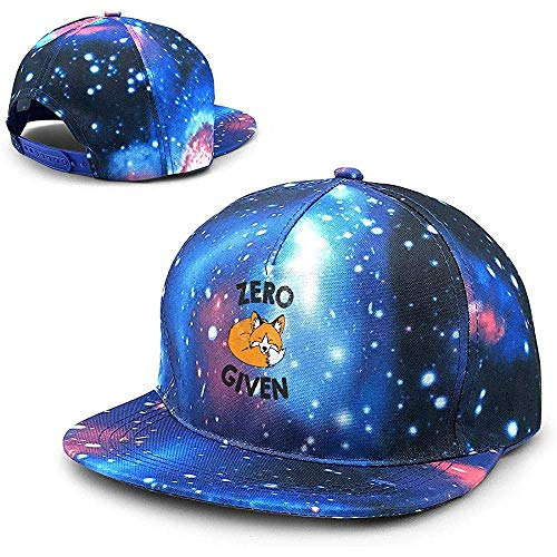 Unisex Zero Fox Dado Novedad Divertida Animal Lema Divertido Galaxy Hip Hop Snapback Sombrero de ala Plana Gorras de béisbol Azul