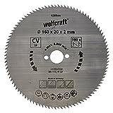 Wolfcraft Kreissäge-Blatt 160  X 20 100 Zähne