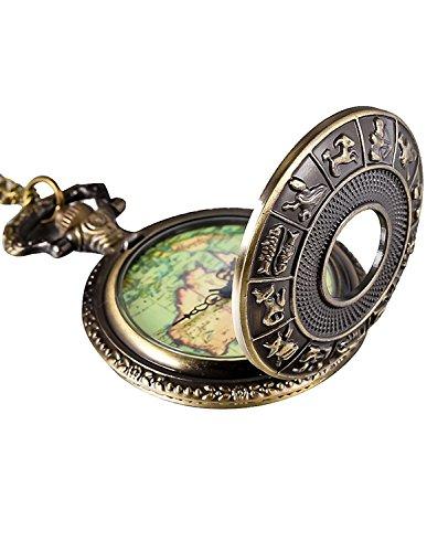 Reloj de Bolsillo de Mapa Antiguo Reloj Colgante de Cobre