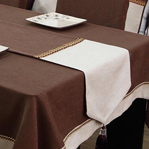Table Runner Sharp Corners Tassel Isolation Thé Classique Drapeau (Color : Coffee, Size : 32 * 220cm)