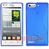 Funda GEL SLine S Line AZUL Huawei Ascend G6 4G Orange Gova