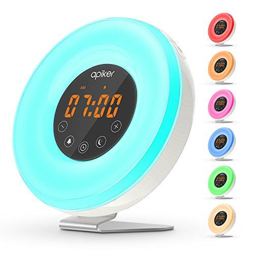(Versión Actualizada) Wake Up Light, Despertador con Luz de Simulación de Salida...