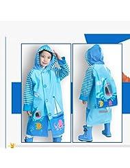Imperméable pour enfants Garçons et filles Poncho imperméable à la mode (avec paquet livre)