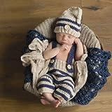 Häkelkostüm, für Neugeborene, für Mädchen, Jungen, für Fotoaufnahmen geeignet, 4 Stück