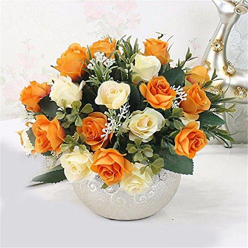 SituMi Fake Flores artificiales para la decoración del hogar adornos de plástico...