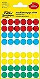 AVERY Zweckform 3088 selbstklebende Markierungspunkte (Ø 12 mm, 270 Klebepunkte auf 5 Bogen, runde Aufkleber für Kalender, Planer und zum Basteln, Papier, matt) bunt