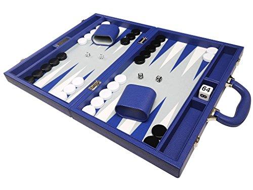 40 x 53 cm Premium-Backgammon-Set - Indigoblau
