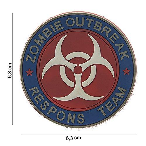 Tactical Attack Zombie Outbreak Response Team Resident Evil Softair Sniper PVC Patch Logo Klett inkl gegenseite zum aufnähen Paintball Airsoft Abzeichen Fun Outdoor Freizeit (Zombie-klett-patch)