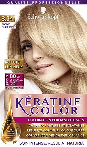 Coloration pour cheveux keratine