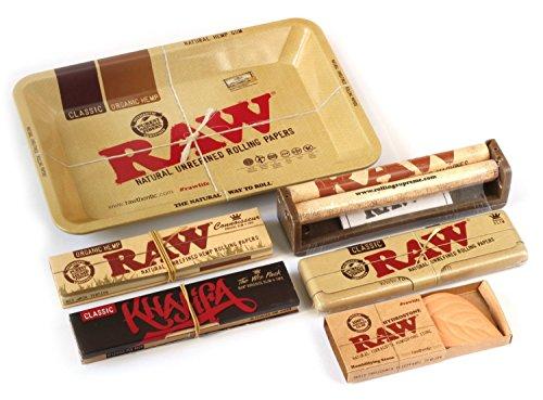 's Style Mini Metall Rolling Tablett Deal Geschenk mit Maschine Raw Mini-Tablett, King Size, Zinn, Liebhaber, hydrostone und 3D Lesezeichen für Sie oder Ihre Lieben von Trendz ()