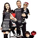 Riou Weihnachten Baby Kleidung Set Kinder Pullover Pyjama Outfits Set Familie Frauen Familie Passenden Weihnachten Pyjamas PJs Kleid Nachtwäsche (M, Mom)