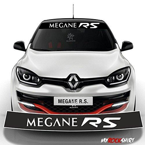 Motorsport Aufkleber Megane Rs Renault Blendstreifen 130cmkeilsonnenschutz Sport Racing Rennstreifen Logo Aufkleberdecal Stickeraus