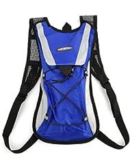 Tsing Sac à dos Vélo Sport d'hydratation étanche pour Randonnée Alpinisme Camping Escalade Cyclisme Moto 2L Bleu (Le sac d'eau non inclus)