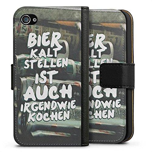 Apple iPhone 7 Plus Silikon Hülle Case Schutzhülle Bier Kochen Sprüche Sideflip Tasche schwarz