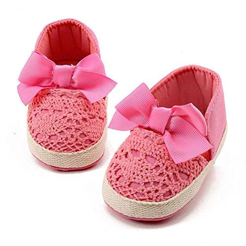 Igemy 1Paar Kleinkind Mädchen weich Sole Crib Schuhe Sneaker Baby Schuhe Pink