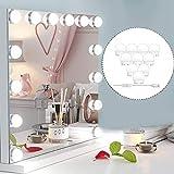 Ovonni Kit de Lumière LED pour Miroir de maquillage Éclairage pour coiffeuse Lampe pour maqauillage Miroir de Courtoisie de Style Hollywood pour Maquillage,Coiffeuse Miroir,Salle de Bain,10 Ampoules
