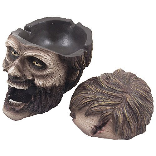 ead Ashtray Statue with Cover for Spooky Graveyard Halloween Party Decorations and Decorative Medieval & Gothic Decor Sculptures As Whimsical Novelty Gifts by DWK CORPORATION ()