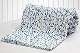 #8: AURAVE Blue Flower Bud Design Reversible 1 Pc Cotton Duvet Cover/Quilt Cover/Blanket Cover - Single Size (with Zipper)
