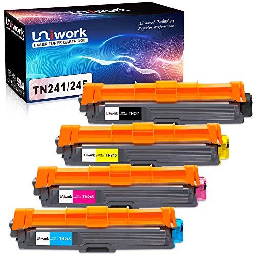 Uniwork Ersatz für Brother TN241 TN245 TN-242 TN-246 Toner für Brother DCP-9022CDW MFC-9142CDN MFC-9332CDW HL-3142CW MFC-9342CDW HL-3152CDW HL-3172CDW HL-3140CW MFC-9140CDN HL-3150CDW MFC-9330CDW -