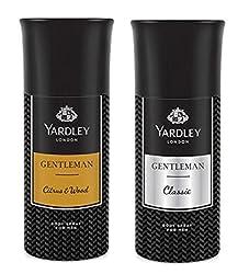 Yardley London Deodorant For Men citrus & wood And Gentleman Combo Pack 2 (150 ml)