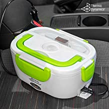 Thermic Dynamics Lunchbox Fiambrera Eléctrica para Coches, Blanco / Verde, 23 x 10,5 x 16,5 cm, 2 Unidades