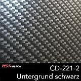 MST-Design Wassertransferdruck Folie I Starter Set Klein I WTD Folie + Dippdivator/Aktivator + Zubehör I 4 Meter mit 60 cm Breite I Carbon/Carbon-Look I CD-221-2
