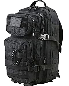 Kombat   Unisex Outdoor Molle Backpack available in Black - 28 Litres