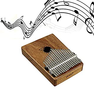 AUOKER Kalimba Thumb Piano, Mbira Thumb Piano Portable Finger Piano Pocket Size for Beginners and Children, Include Tuning Kit Hammer and Study Instruction & Simple Sheet Music, 17 & 10 Keys